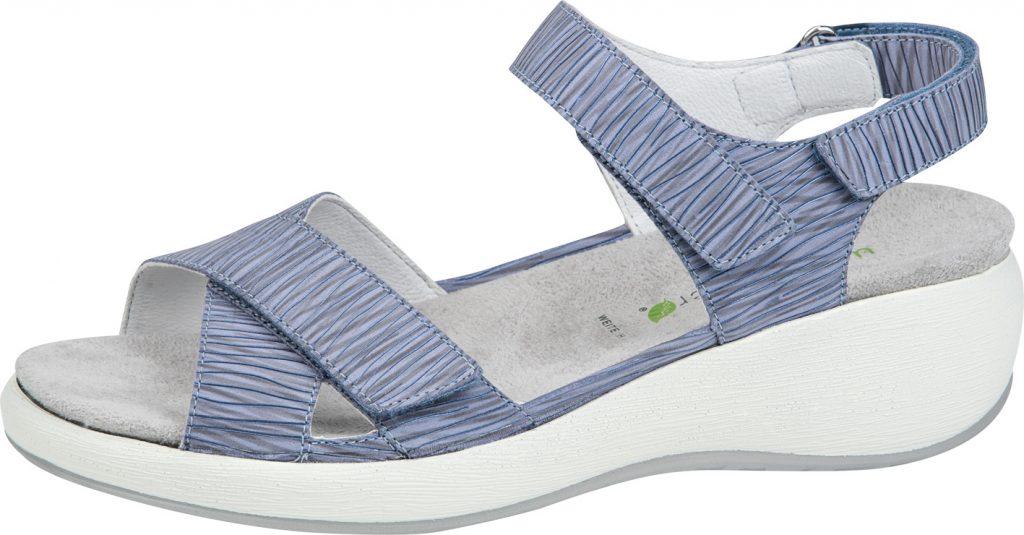 Waldlaufer 973002 H Tanja Blue multi twin strap sandal Sizes - 4 to 7 Price - £72.00