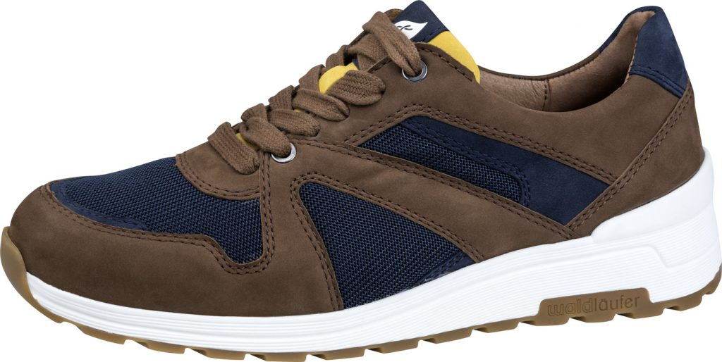 Waldlaufer Mens 734002 H Etienne Navy Tan lace shoe Sizes - 7 to 10 Price - £79.00