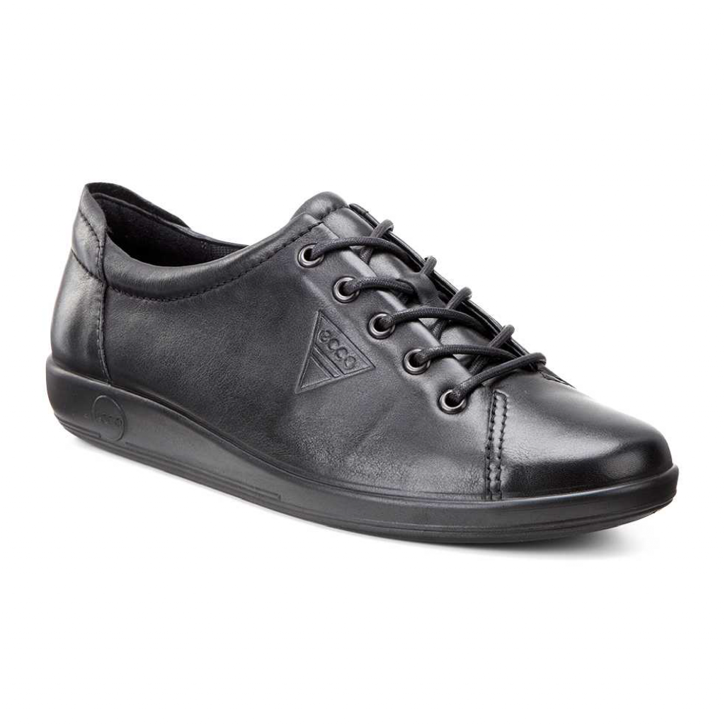 Ecco 206503 Soft 2 Black Lace Shoe    Sizes - 38 to 42    Price - £85