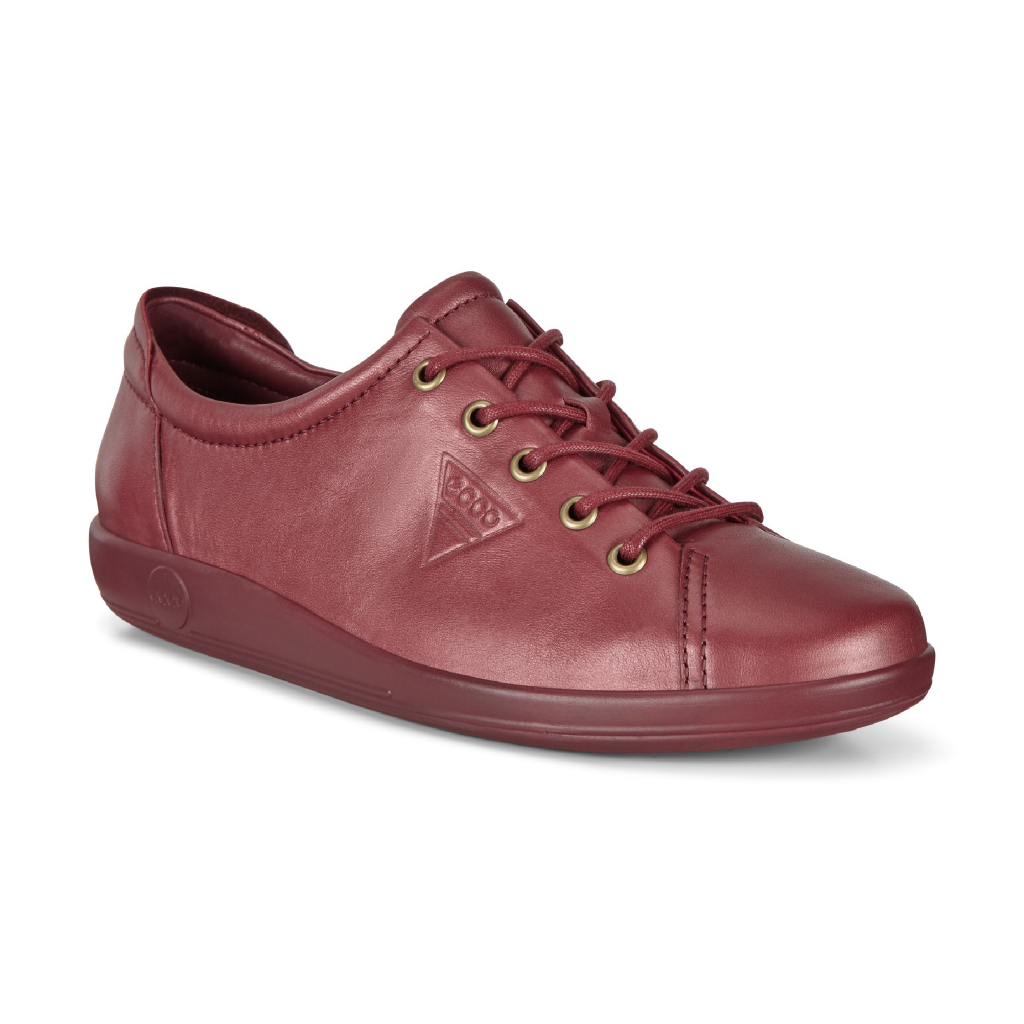 Ecco 206503 Soft 2 Red Lace Shoe   Sizes - 36 and 38 only.   Price - £85