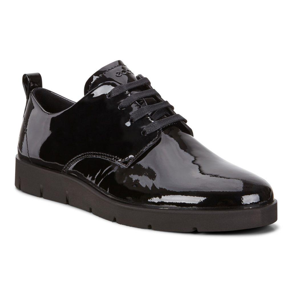 Ecco 282043 Bella Black patent Lace Shoe  Sizes - 38 to 42  Price - £95 NOW £69