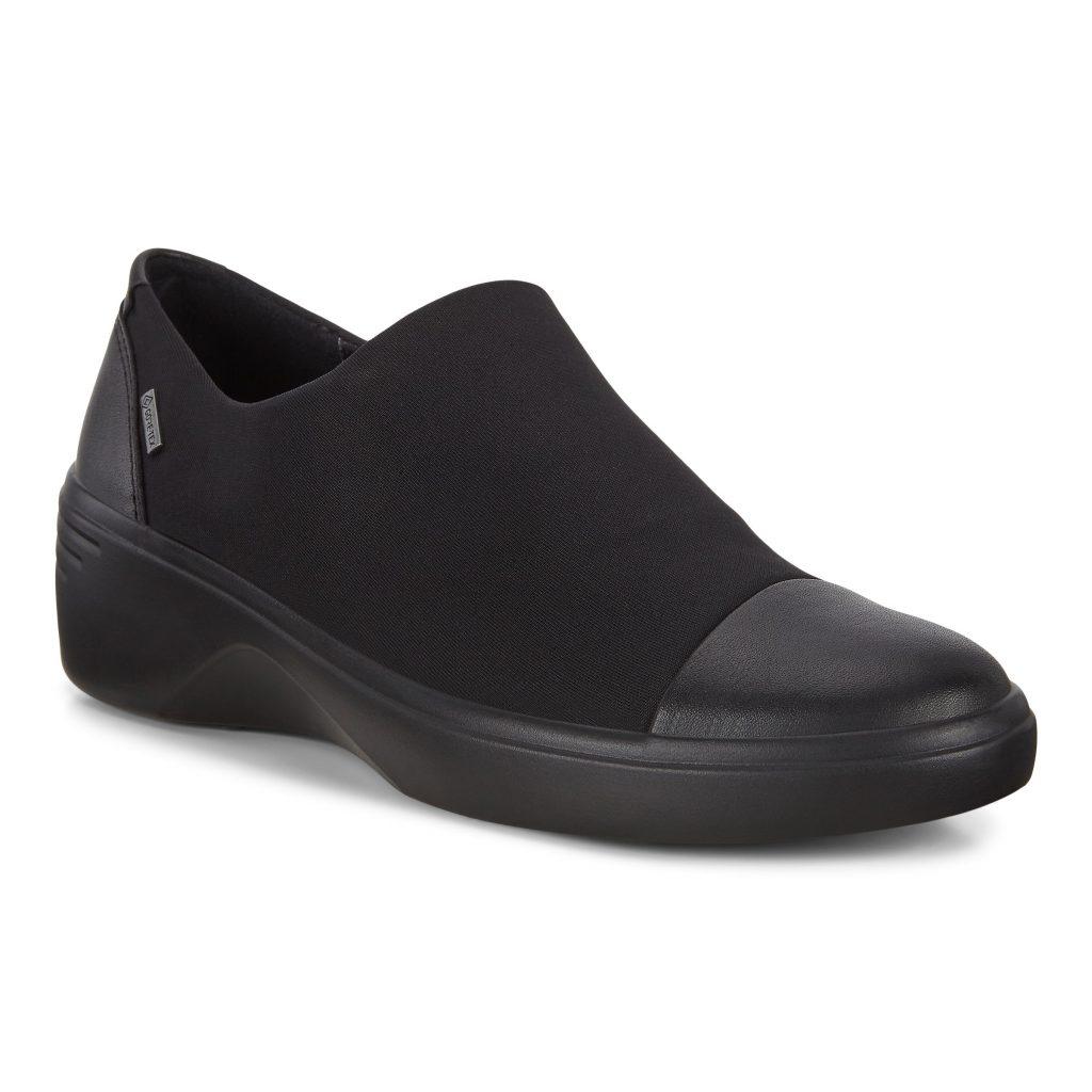Ecco 470913 Soft 7 Black GoreTex Slip-on Shoe  Sizes - 38, 39 and 40.   Price - £100 NOW £69
