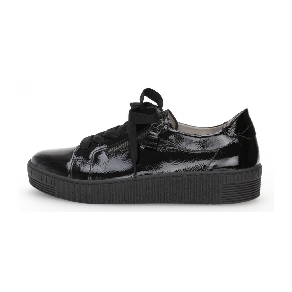 Gabor 53.334.97 Black zip shoe Sizes - 4.5 to 7 Price - £90