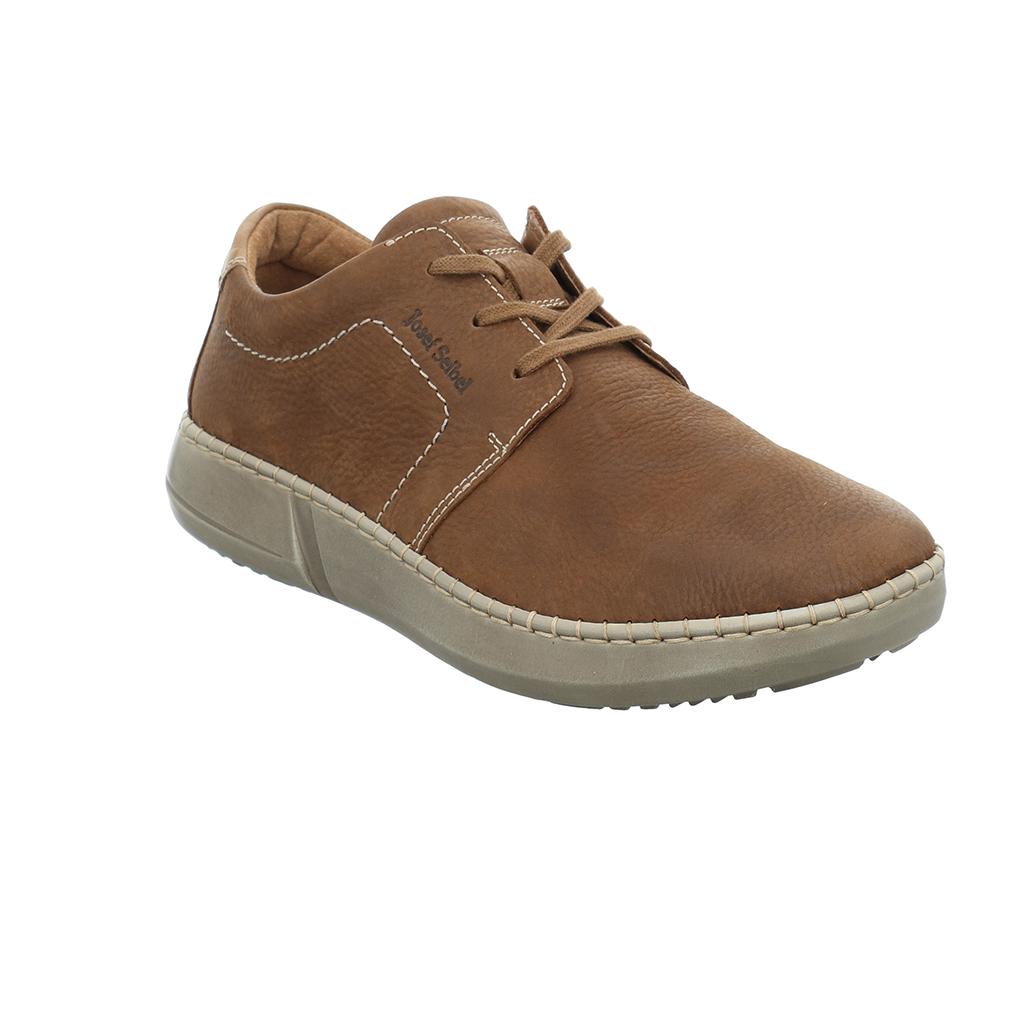 Josef Seibel Mens Louis 01 Brown Lace Shoe   Sizes - 41 to 45   Price - £85