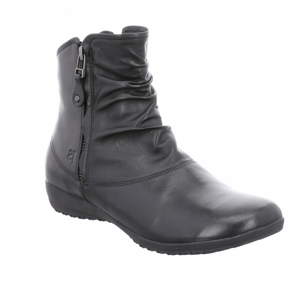 Josef Seibel Naly 24 Black Zip Boot    Sizes - 37 to 42   Price - £95 NOW £69