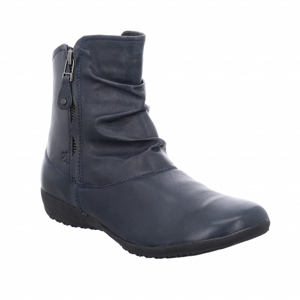 Josef Seibel Naly 24 Blue Zip Boot    Sizes - 38 and 39 only.   Price - £95 NOW £69