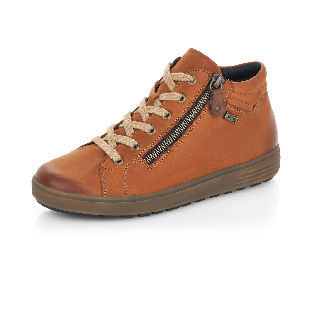 Remonte D4471-22 Tan Tex zip/lace boot    Sizes - 40 only.   Price - £77 NOW £49