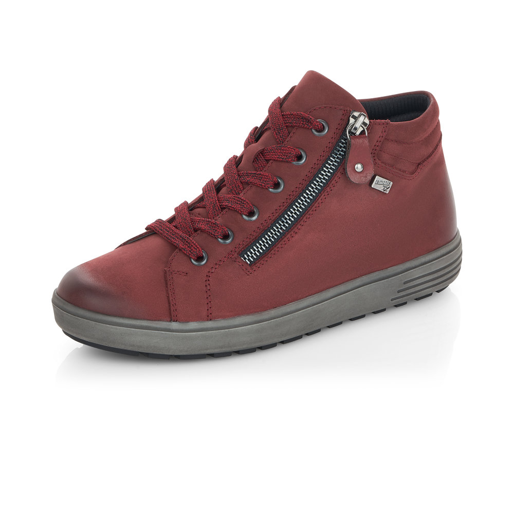 Remonte D4471-35 Red Tex zip/lace boot   Size - 38 only.   Price - £77 NOW £49