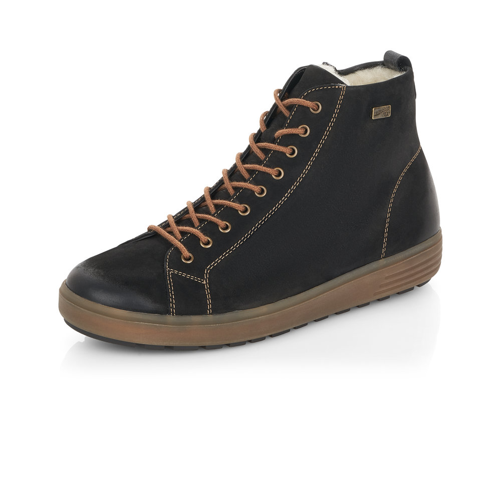 Remonte D4472-02 Black Tex zip/lace boot   Sizes - 39, 40 and 42.    Price - £77 Now £49