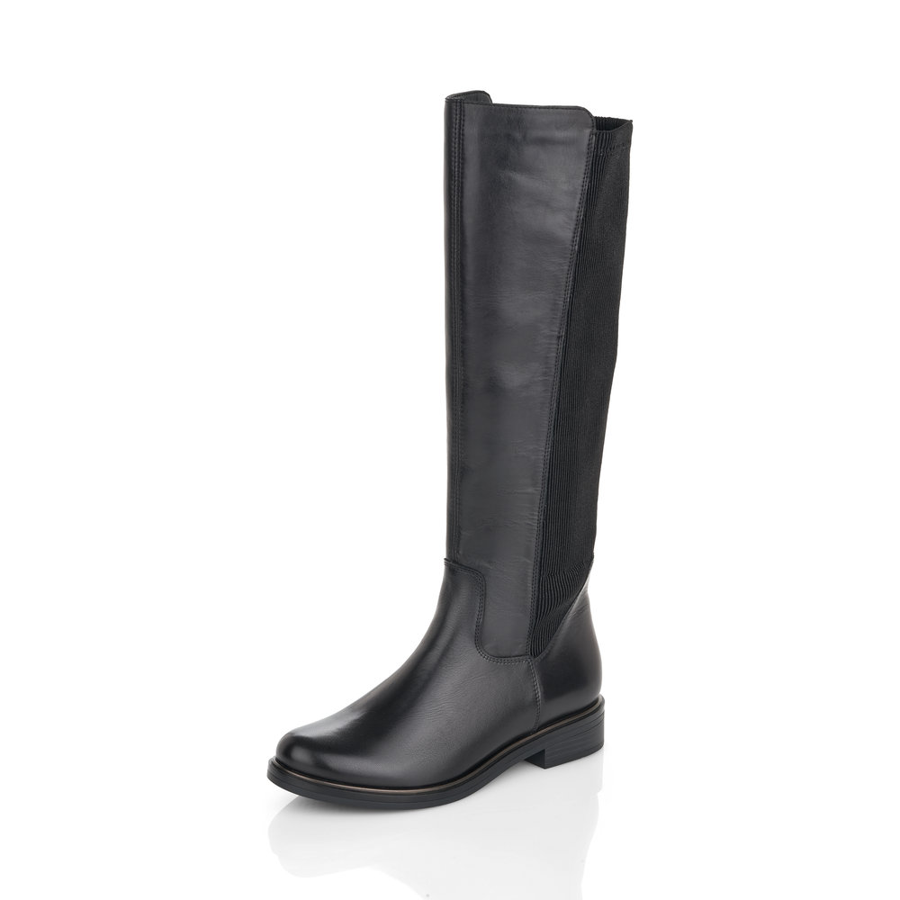 Remonte D8371-01 Black tall zip boot   Size - 37 only   Price - £89 NOW £59