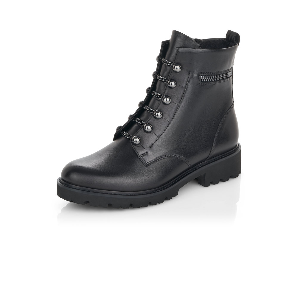 Remonte D8670-01 Black zip ankle boot  Sizes -  41 only.    Price - £95 NOW £79