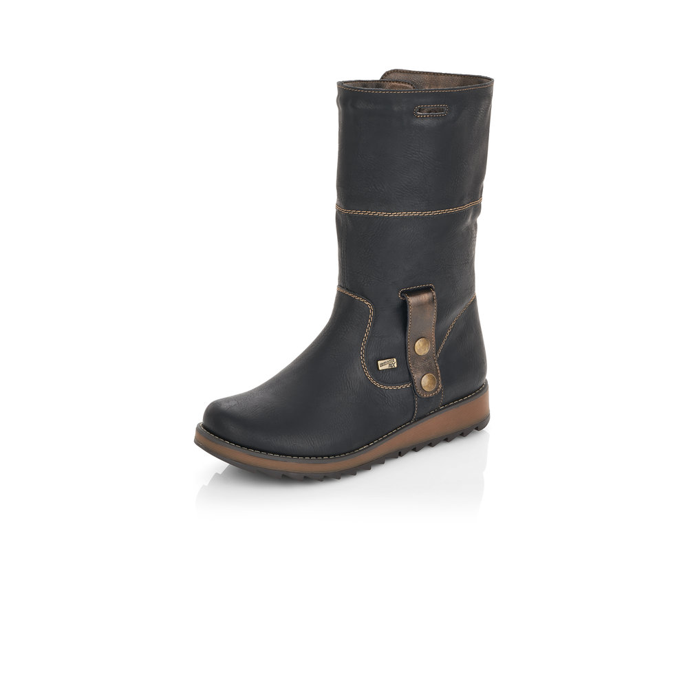 Remonte D8874-01-2 Black Tex zip boot (Unfolded)  Sizes - Sold Out.   Price - £77 NOW £49
