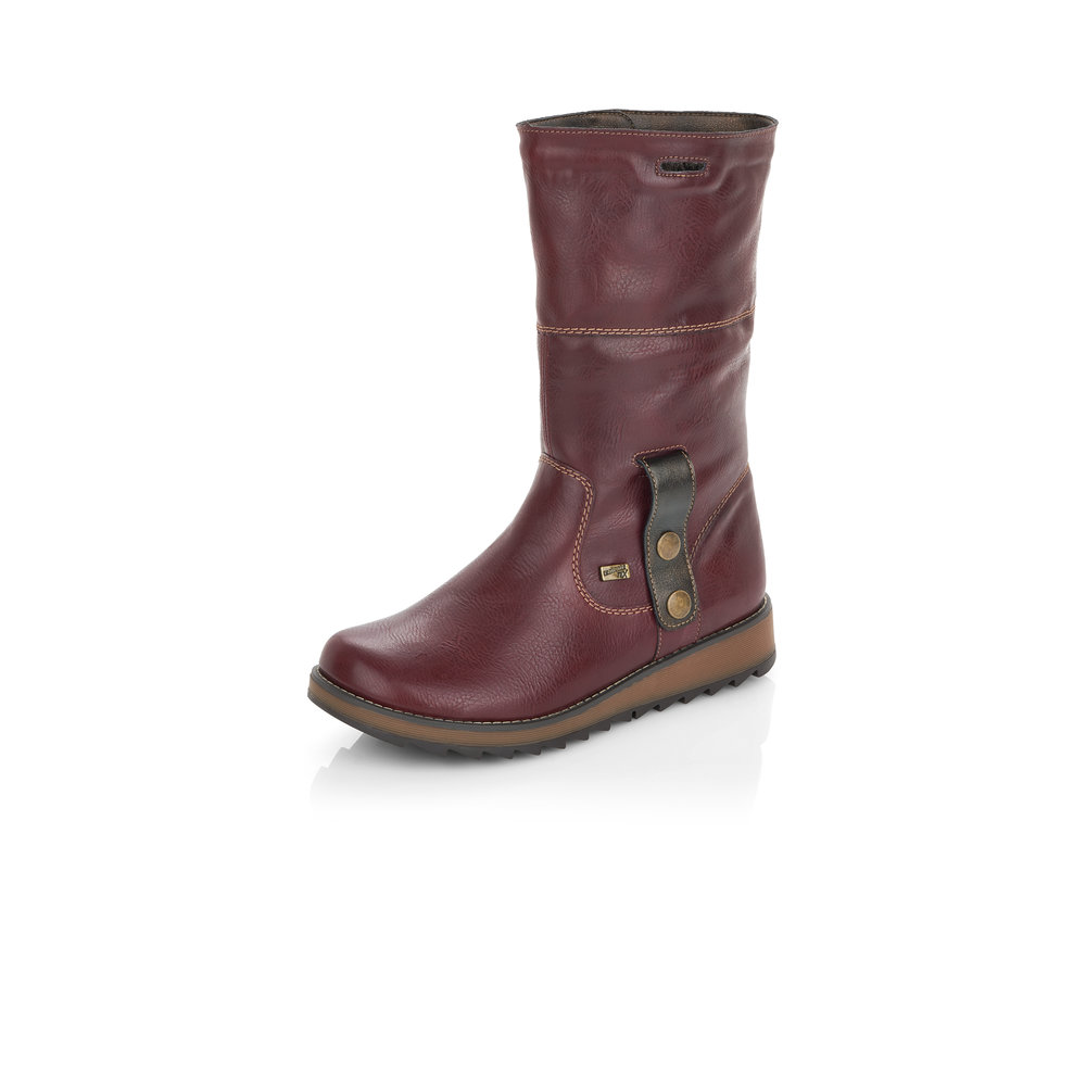 Remonte D8874-35 Red Tex zip boot (Unfolded)  Sizes - Sold Out.   Price - £77 NOW £49