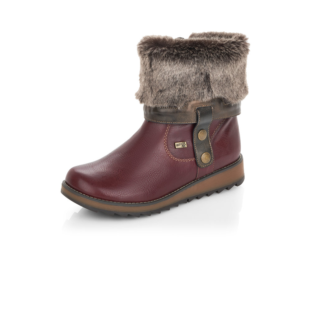 Remonte D8874-35 Red Tex zip boot (Folded)  Sizes - Sold Out.   Price - £77 NOW £49