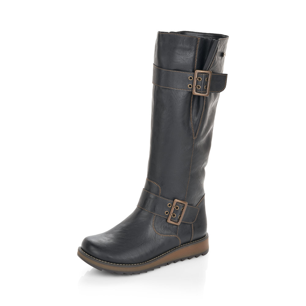Remonte D8886-01 Black Tex Tall Zip boot    Size - 37 only.    Price - £85 NOW £49
