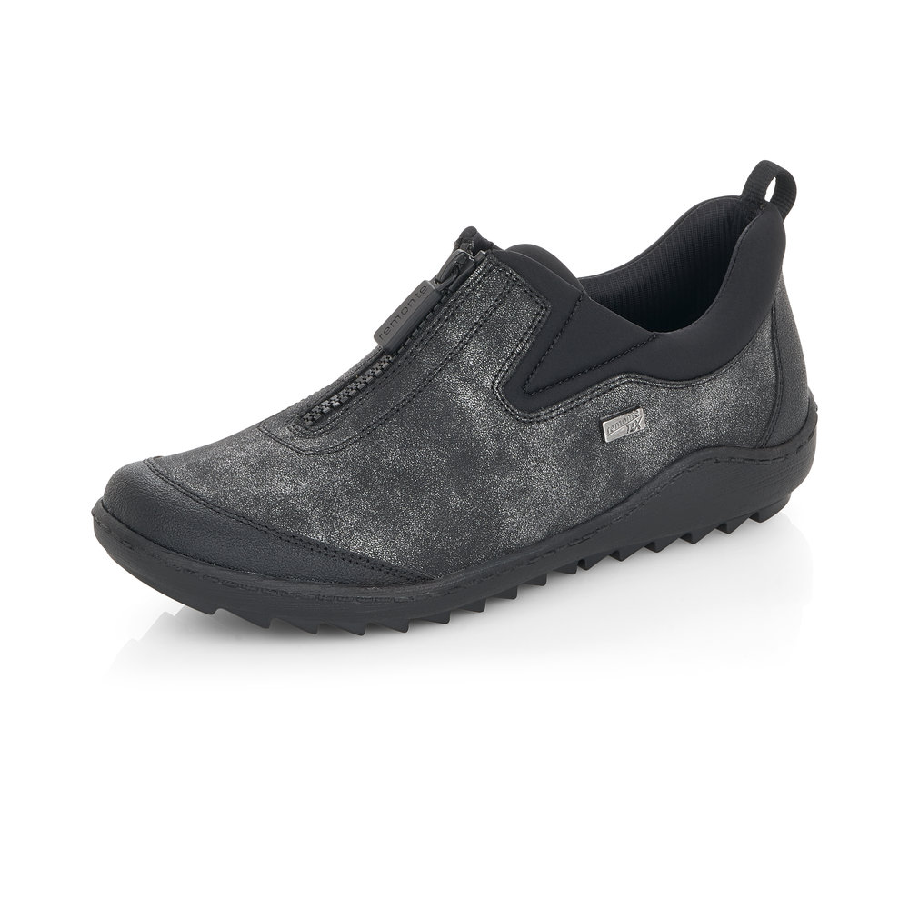 Remonte R1422-45 Black Tex zip shoe   Size - 38 only.    Price - £67 NOW £49