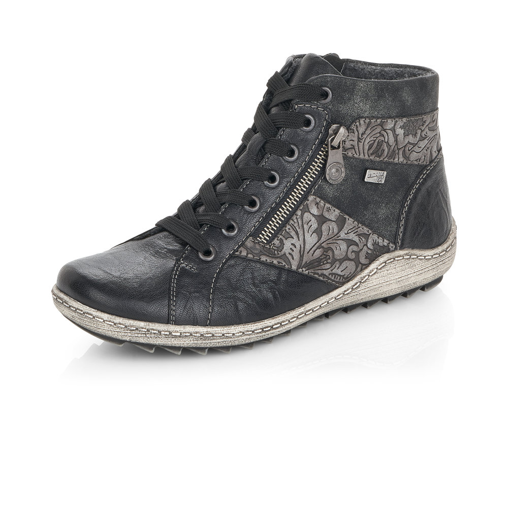 Remonte R1497-45 Black zip/lace Tex boot    Size - Sold Out.   Price - £77