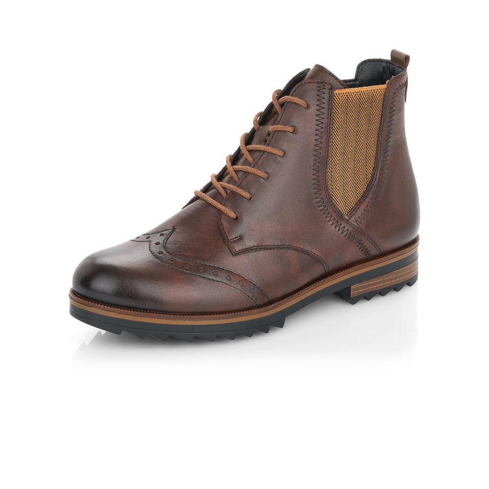 Remonte R2293-25 Brown zip/lace boot    Sizes - 37, 40 and 41.   Price - £85 NOW £59
