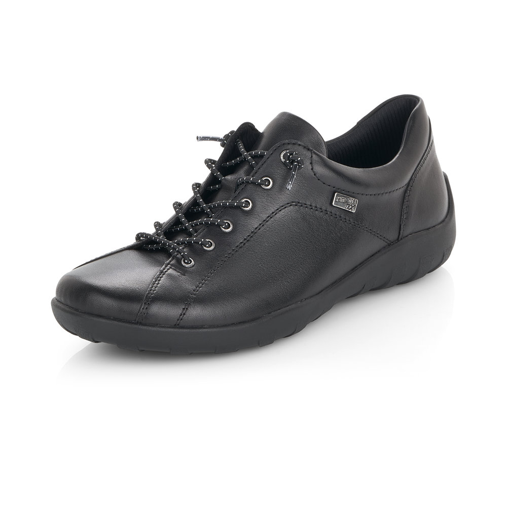 Remonte R3515-02 Black Tex lace shoe    Sizes - 37 and  38 only.   Price - £69 NOW £49