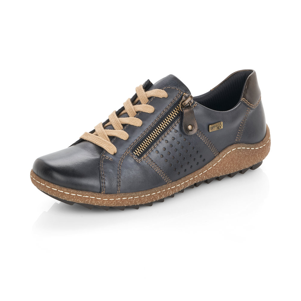 Remonte R4717-14 Navy Tex zip/lace shoe   Size - 42 only.   Price - £75 NOW £59