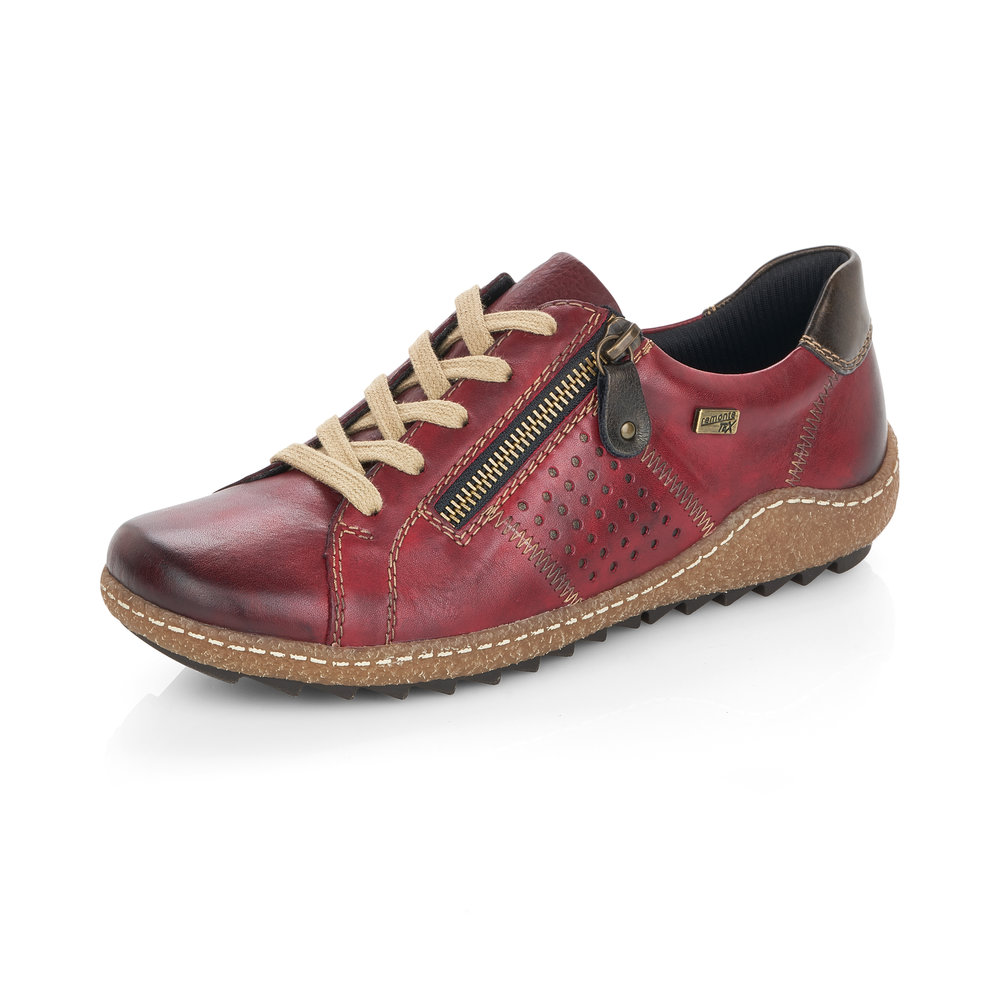 Remonte R4717-35 Red Tex zip/lace shoe   Sizes - 40 and 41 only.   Price - £75 NOW £59