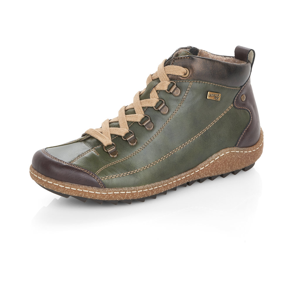 Remonte R4779-52 Green Tex zip/lace boot    Size - 40 only.    Price - £77 NOW £59