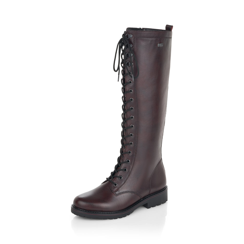 Remonte R6579-35 Dark Red Tex long boot   Sizes - 37 only.   Price - £109 NOW £59