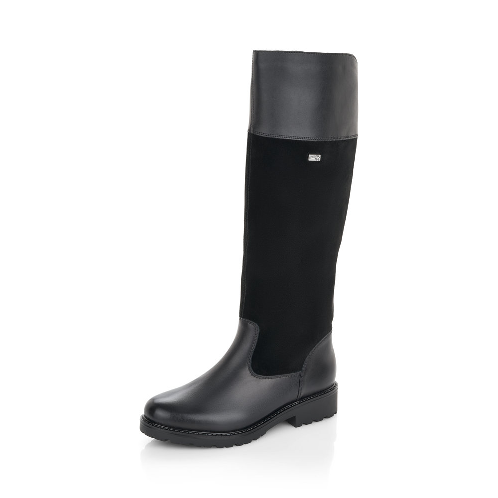 Remonte R6581-03 Black Tall zip Tex boot Sizes - 37 only.   Price - £105 NOW £59