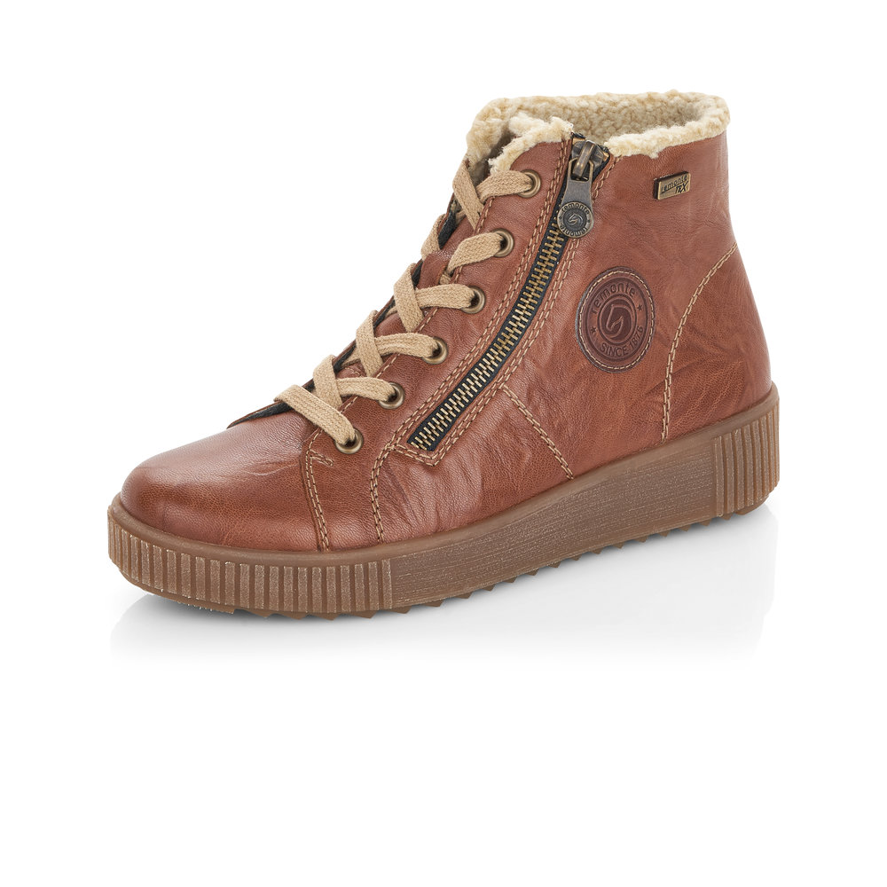 Remonte R7980-22 Brown Tex zip/lace boot   Sizes - 40 and 41 only.   Price - £72 NOW £55