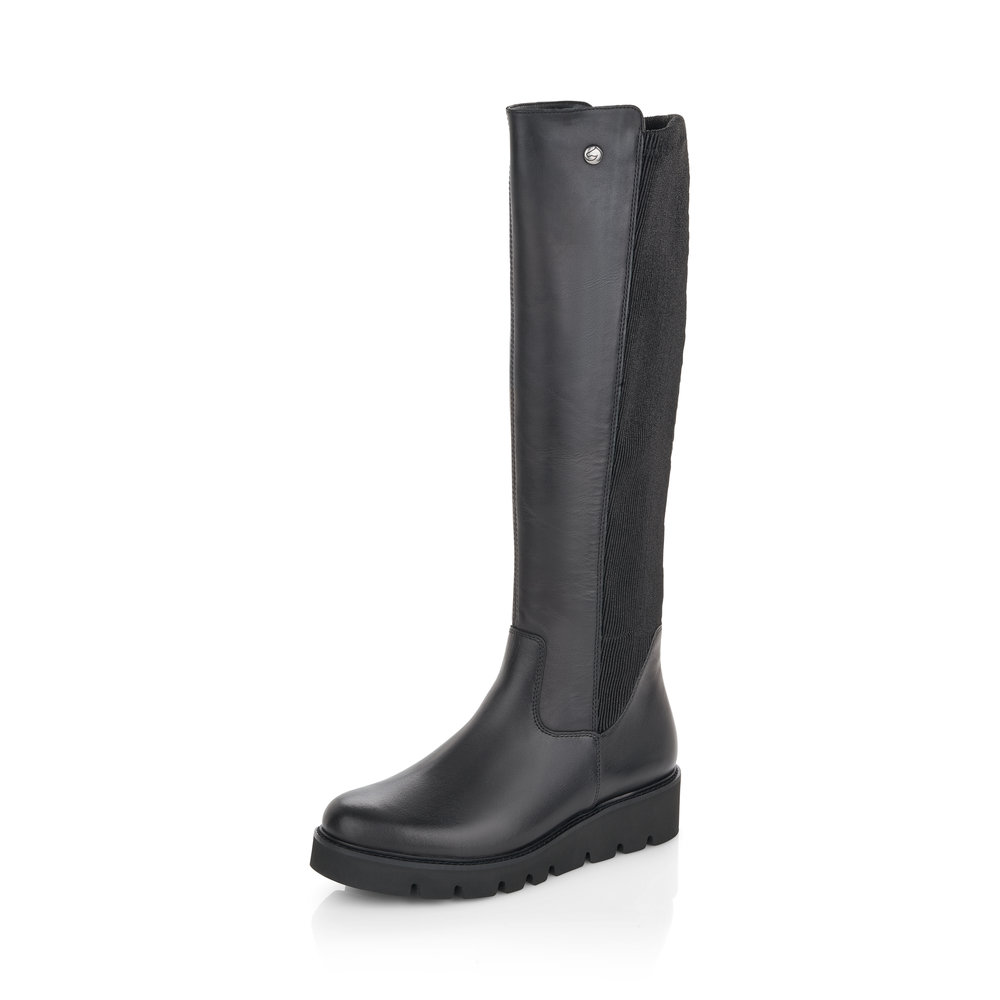 Remonte R8071-01 Black Tall zip boot   Size - 37 only.    Price - £95