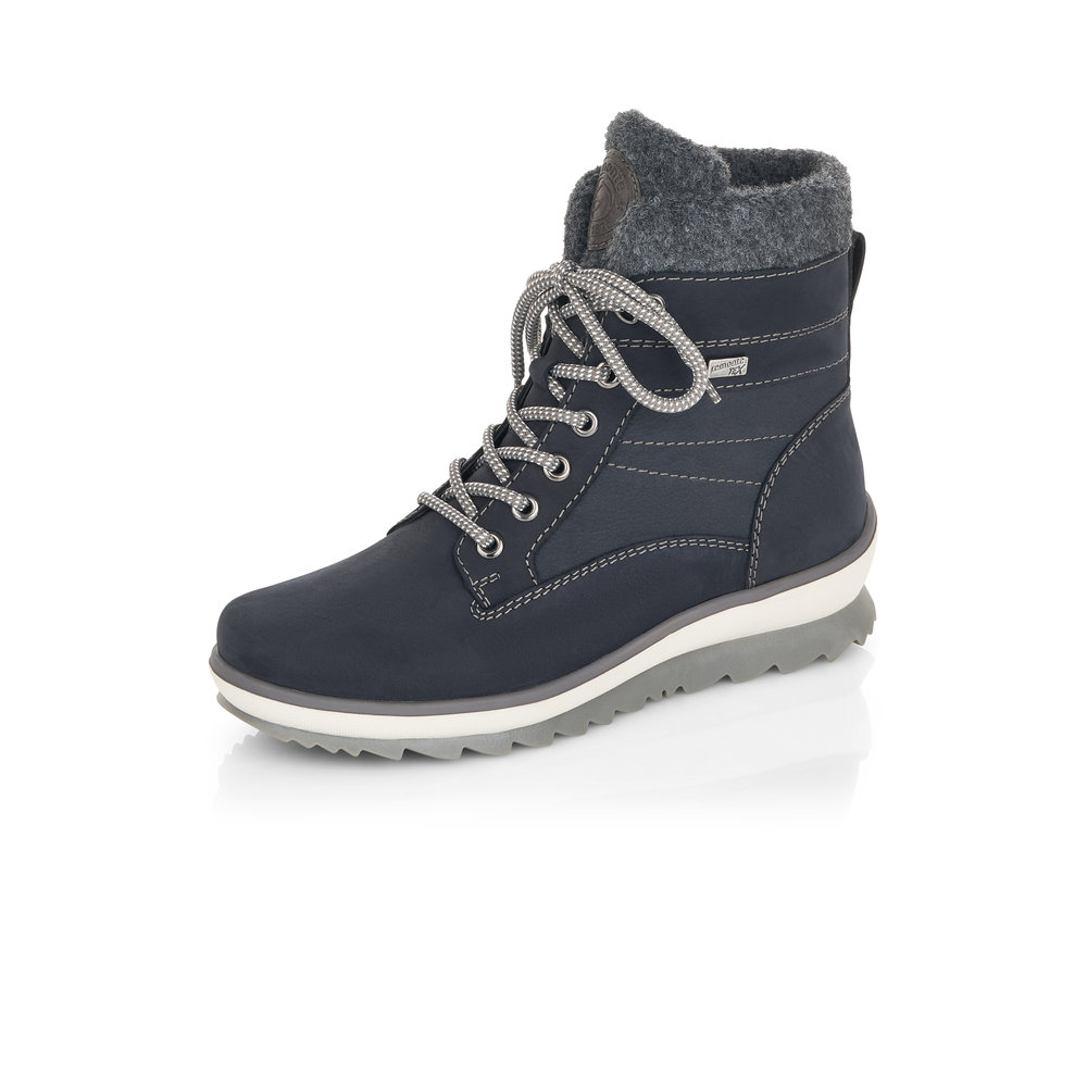 Remonte R8477-14 Blue lace boot Sizes - 37 to 42 Price - £85