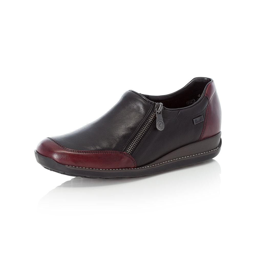 Rieker 44294-35 Black Tex zip shoe   Sizes - 38 to 42   Price - £69