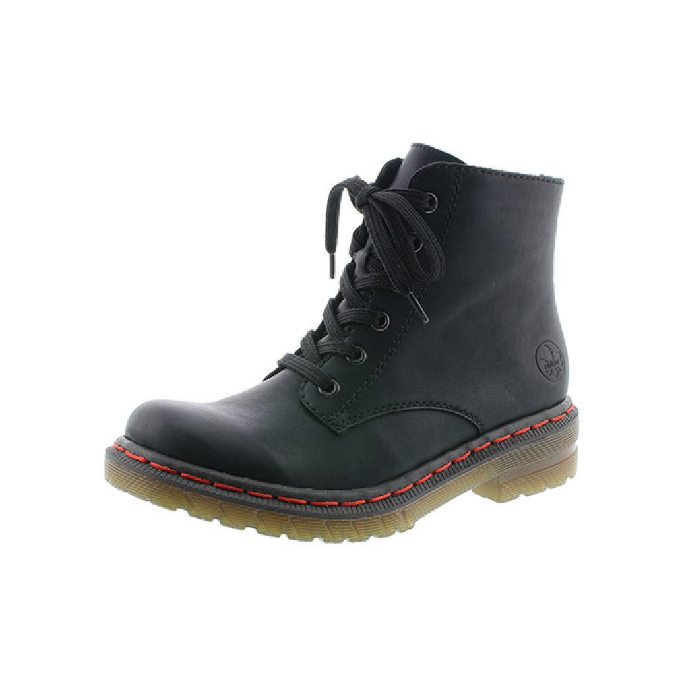 Rieker 76240-00 Black zip/lace boot  Sizes 37, 40 and 42.   Price - £59 NOW £49