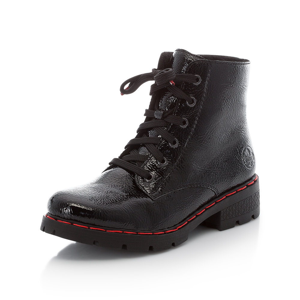 Rieker 76340-00 Black lace boot  Sizes - 38 to 42  Price - £59 NOW £39