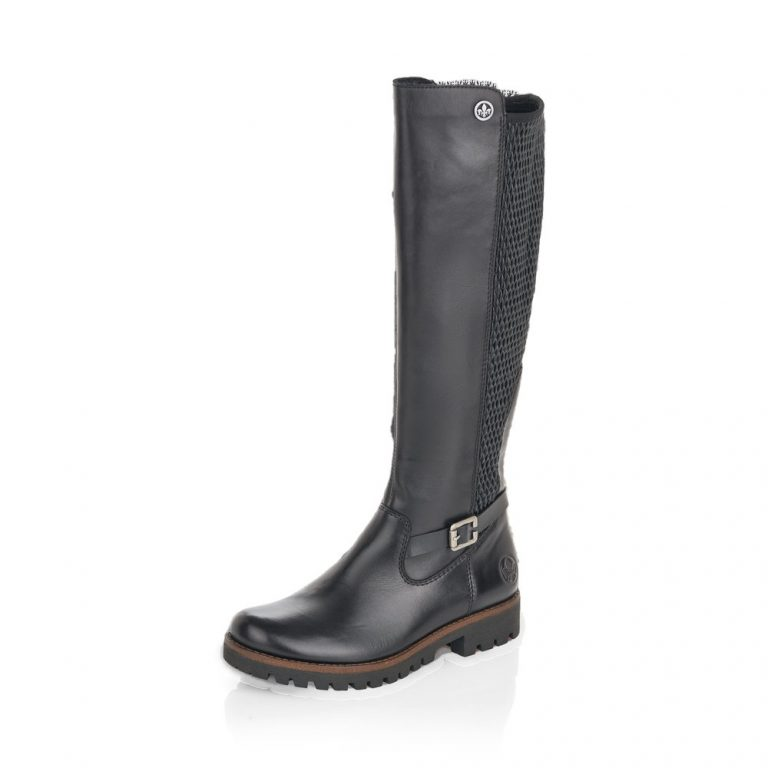 Rieker 78592-00 Black leather long zip boot   Sizes - 37, 40 and 41   Price - £97 NOW £59