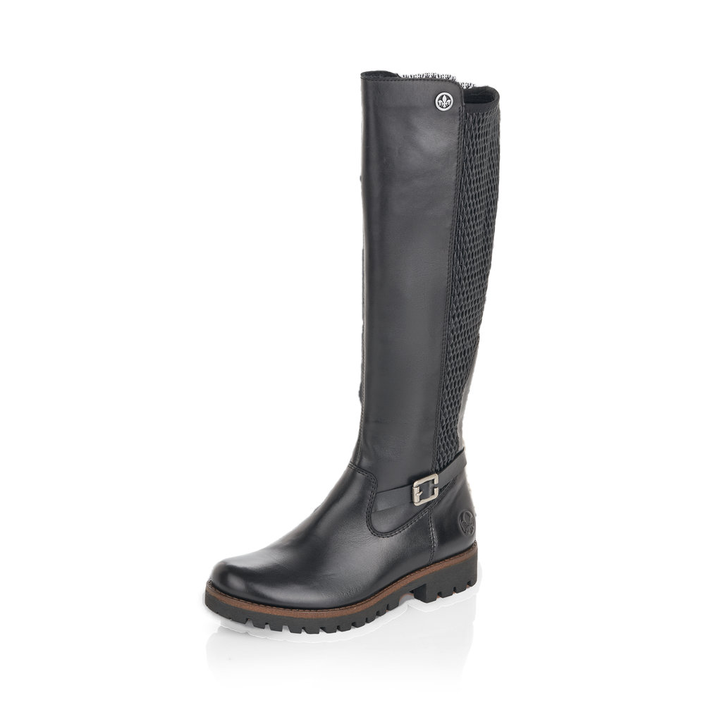 Rieker 78592-001 Black long boot Sizes - 37 to 41 Price - £97