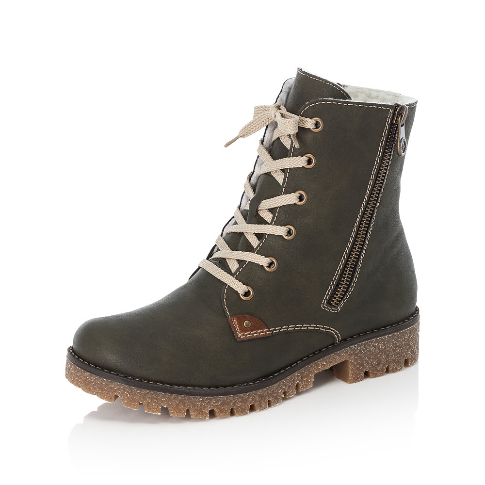Rieker 79839-54 Green zip/lace boot   Sizes - 37, 38, 40 and 41   Price - £69 NOW £49