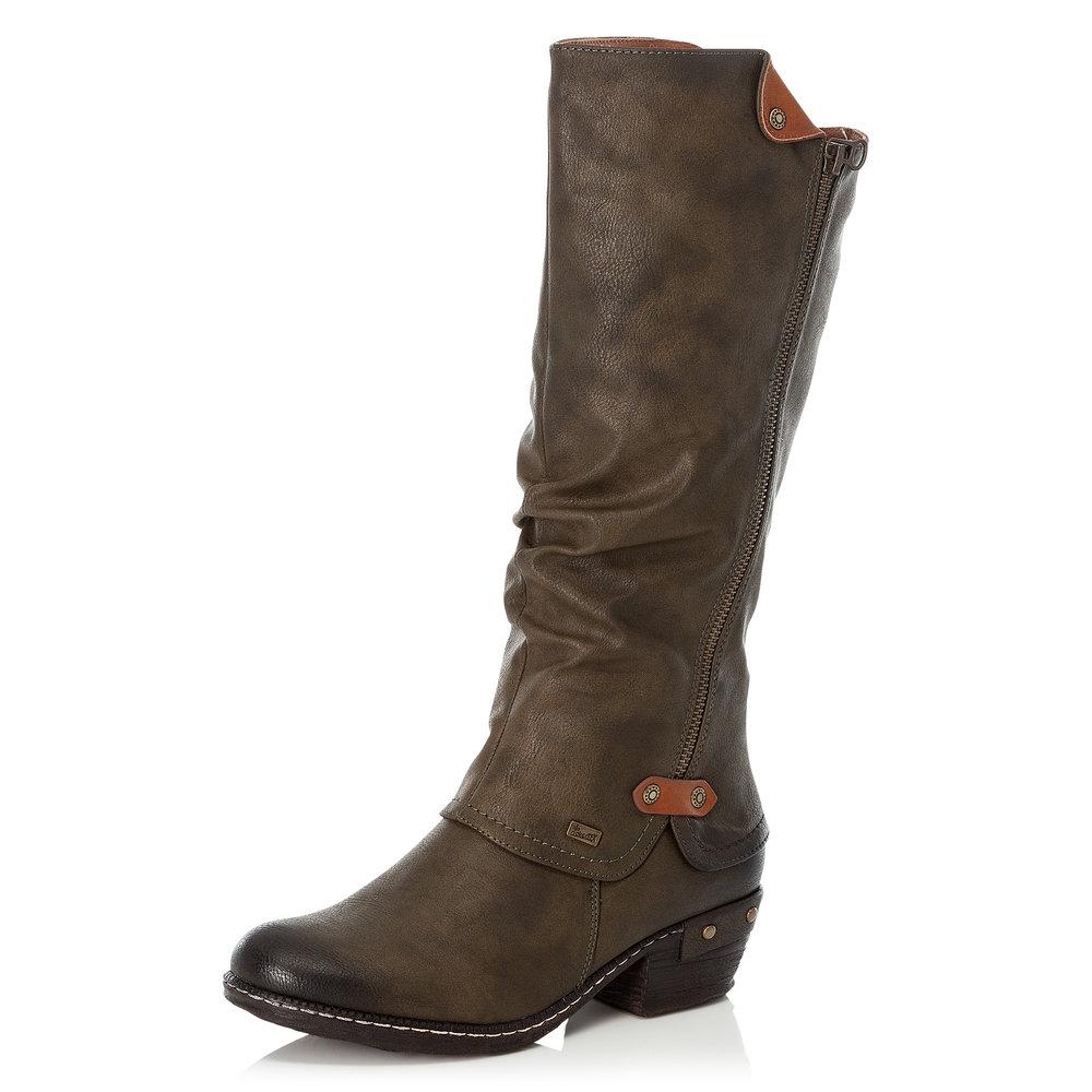 Rieker 93655-54 Brown zip long boot Sizes - 37 to 41 Price - £77