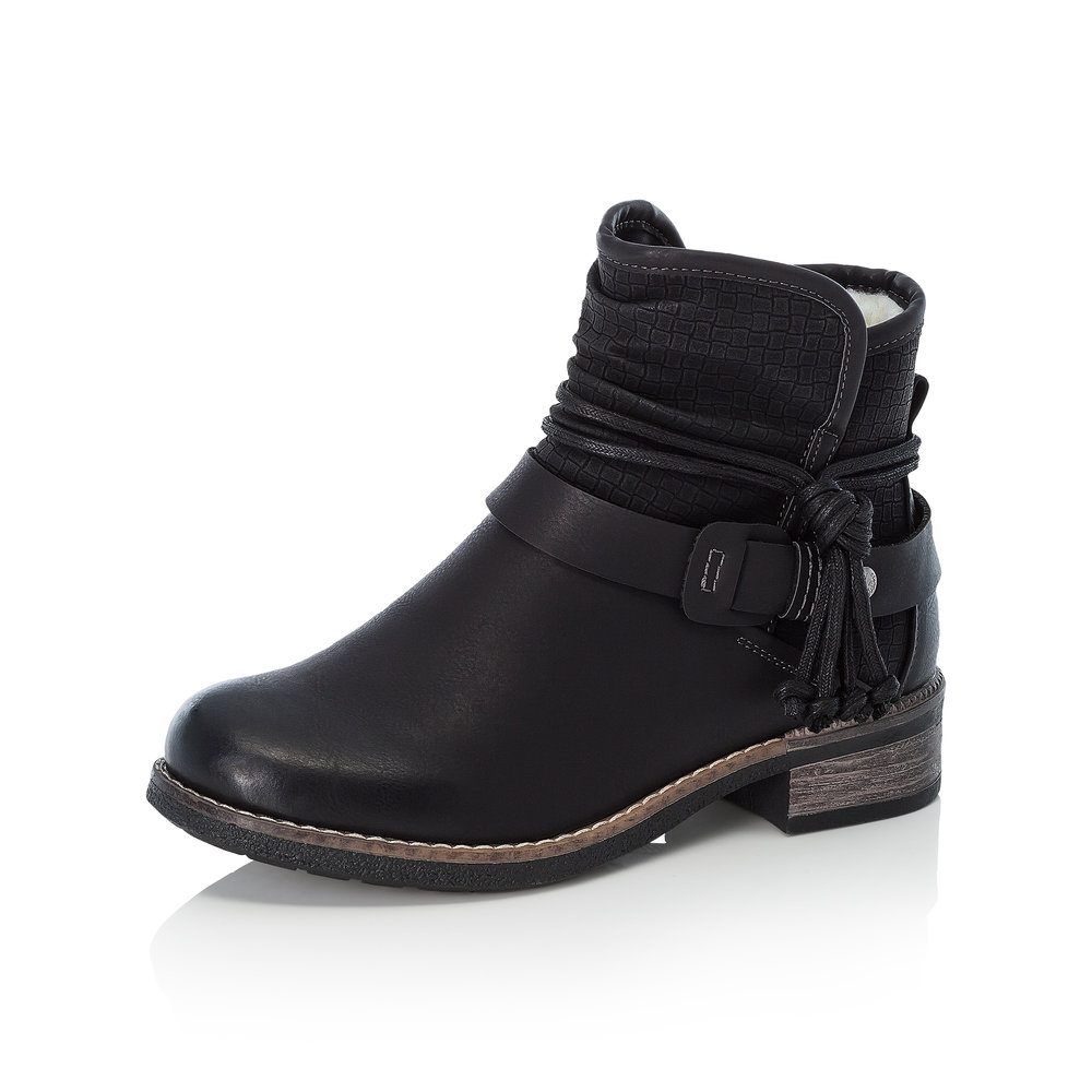 Rieker 94689-00 Black gaucho zip boot   Sizes - 37 and 39 only.    Price - £65 NOW £39
