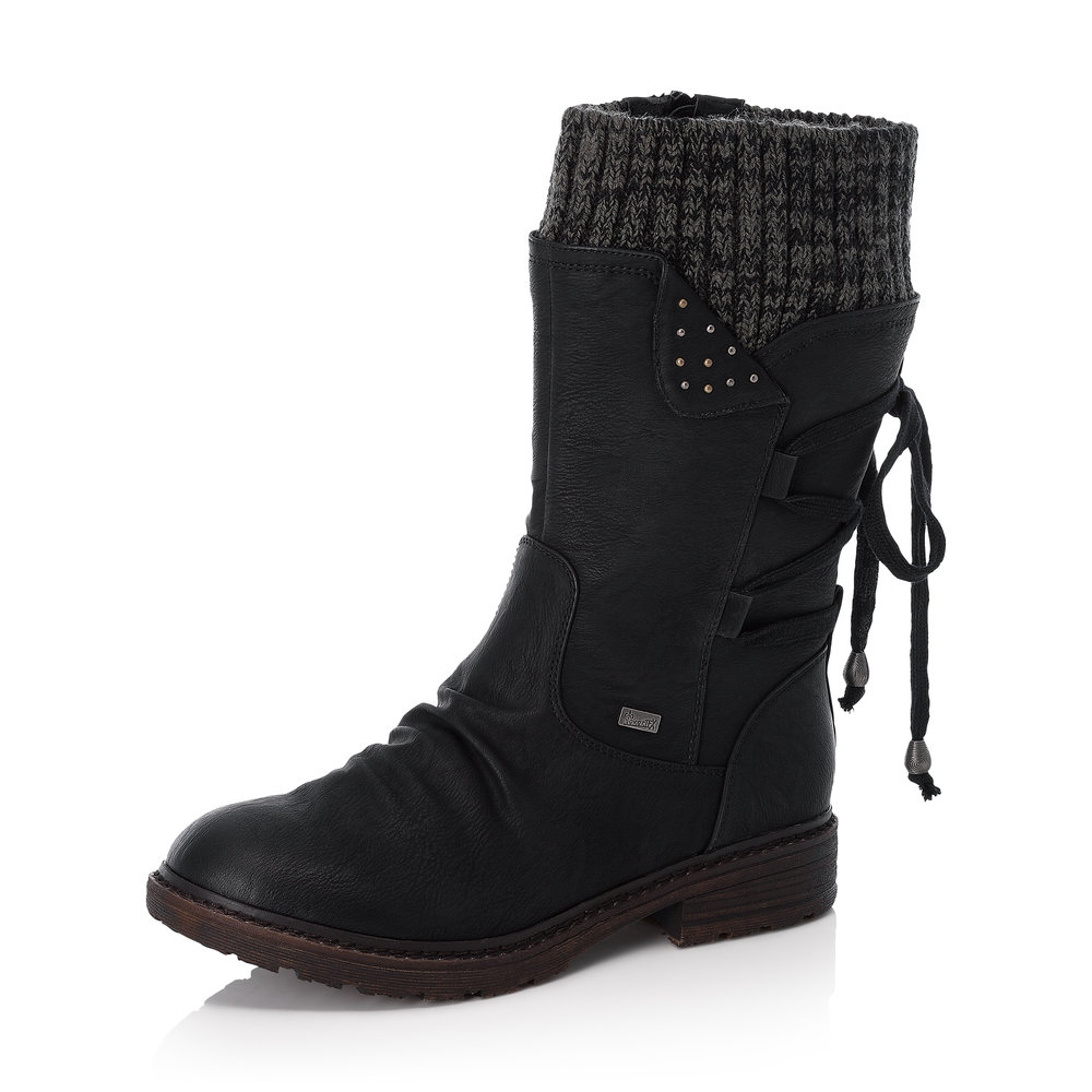 Rieker 94773-00 Black mid zip boot   Sizes - 42 only.  Price - £75 NOW £49