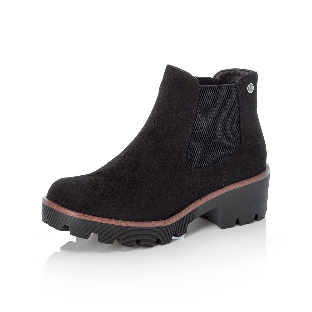 Rieker 99284-00 Black slip-on boot   Sizes - 37 and 40 only.   Price - £59 NOW £39