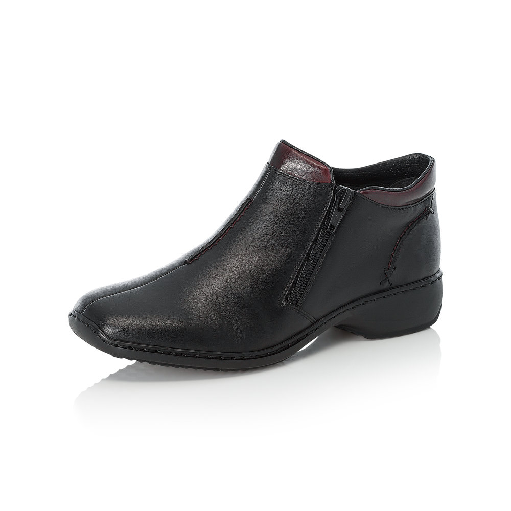 Rieker L3882-00 Black twin zip boot  Sizes - 37, 39, 40 and 41.   Price - £59 NOW £39