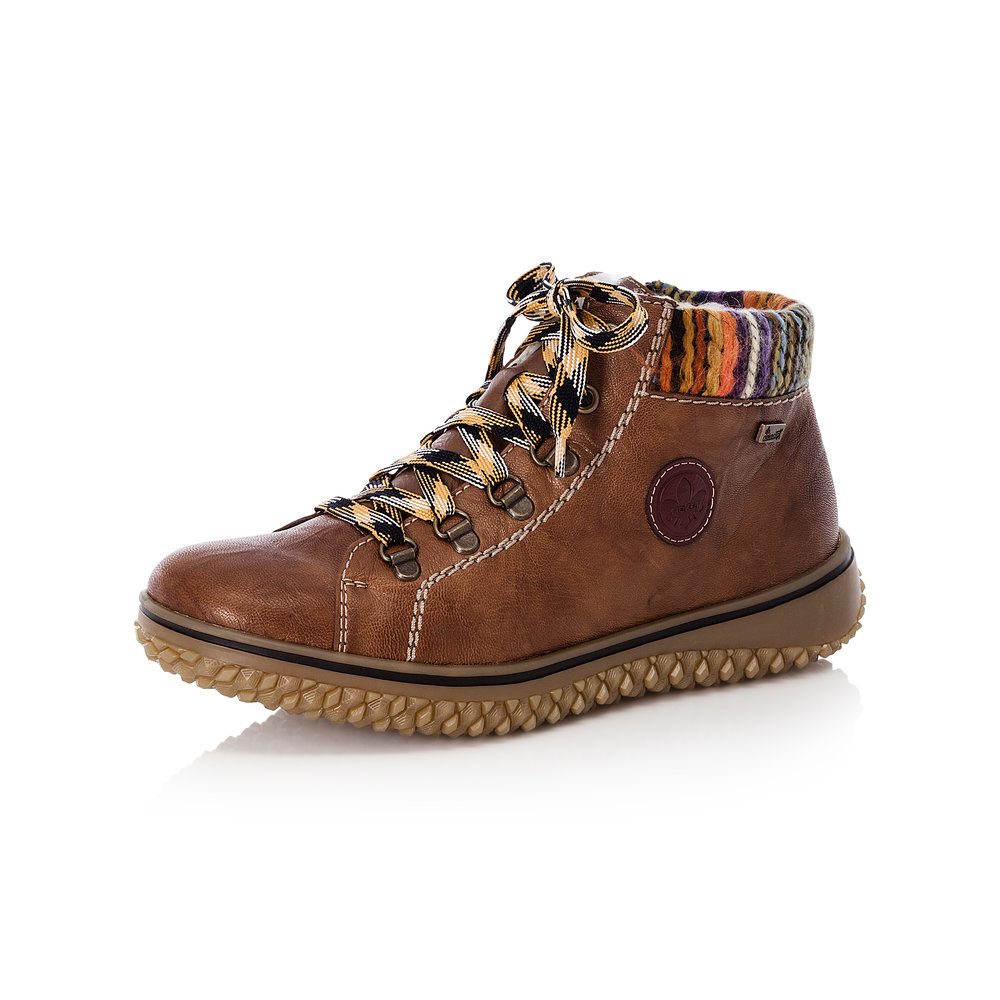 Rieker L4211-22 Brown Tex zip/lace boot   Sizes - 37 only.  Price - £69 NOW £49