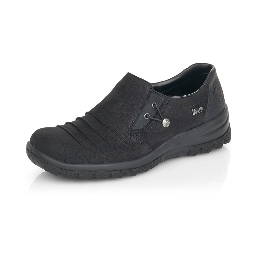 Rieker L7154-001 Black Tex slip-on shoe   Sizes - 37, 39, 40 and 42.   Price - £62 NOW £45