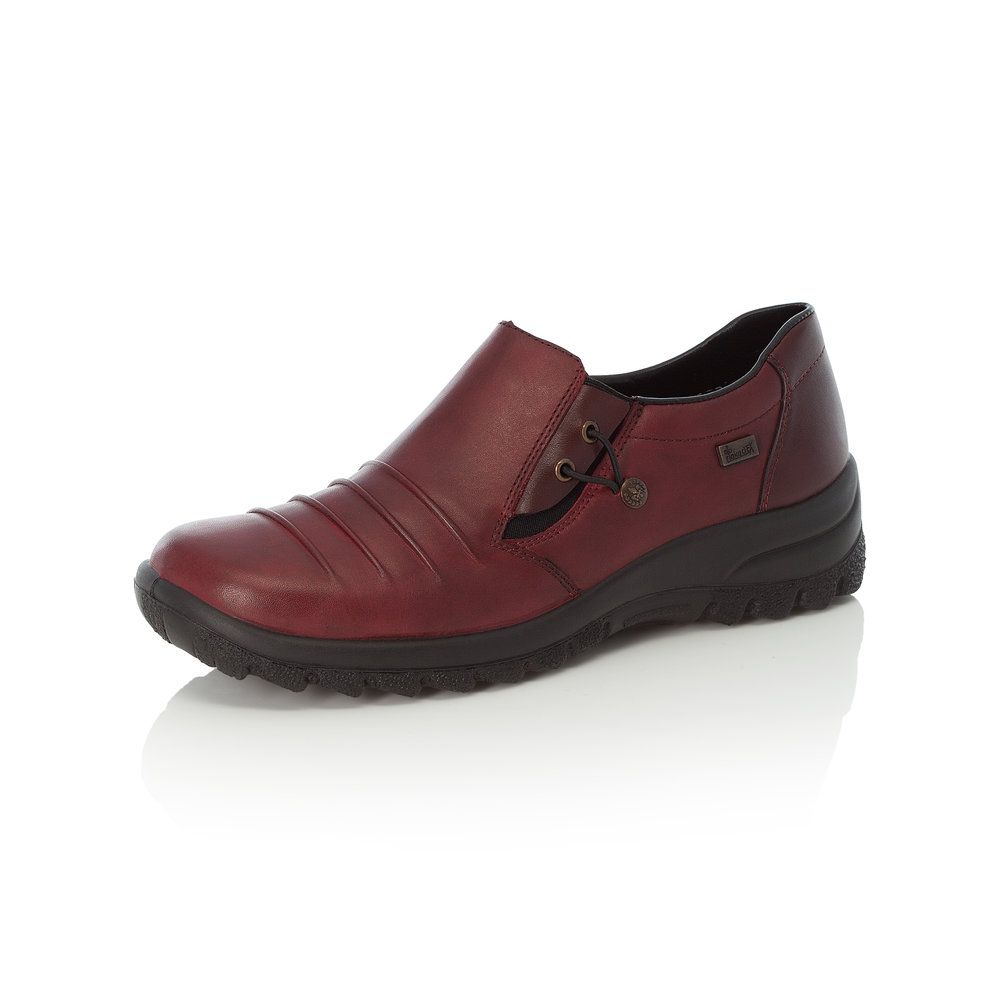Rieker L7154-30 Dark red Tex slip-on shoe    Size - 41 only    Price - £65 NOW £45
