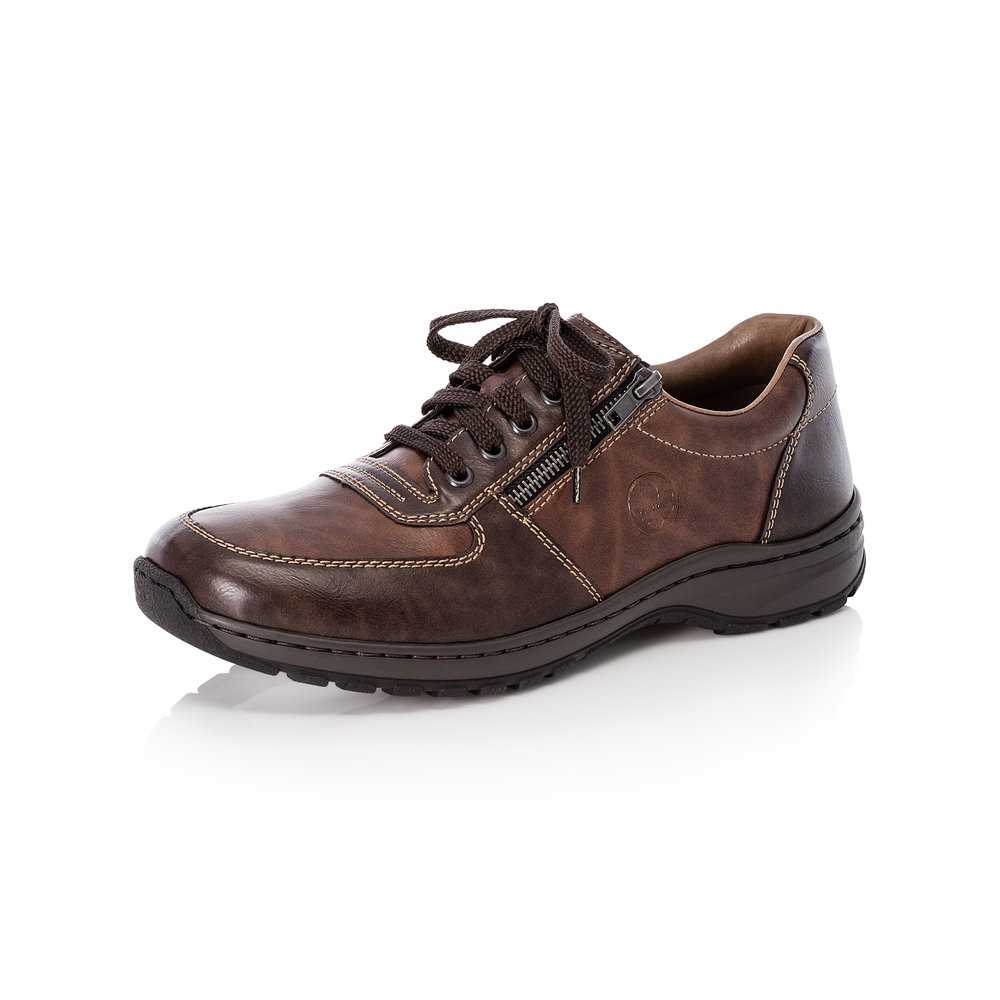 Rieker Mens 03329-25 Brown zip/lace shoe   Sizes - 41, 43, 44 and 45.   Price - £59