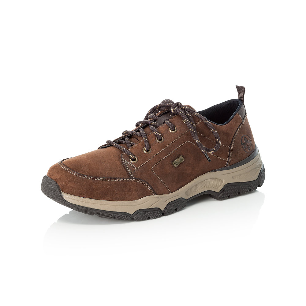 Rieker Mens 11222-22 Brown Tex lace shoe  Sizes - 40, 41, 42, 44 and 45.   Price - £77