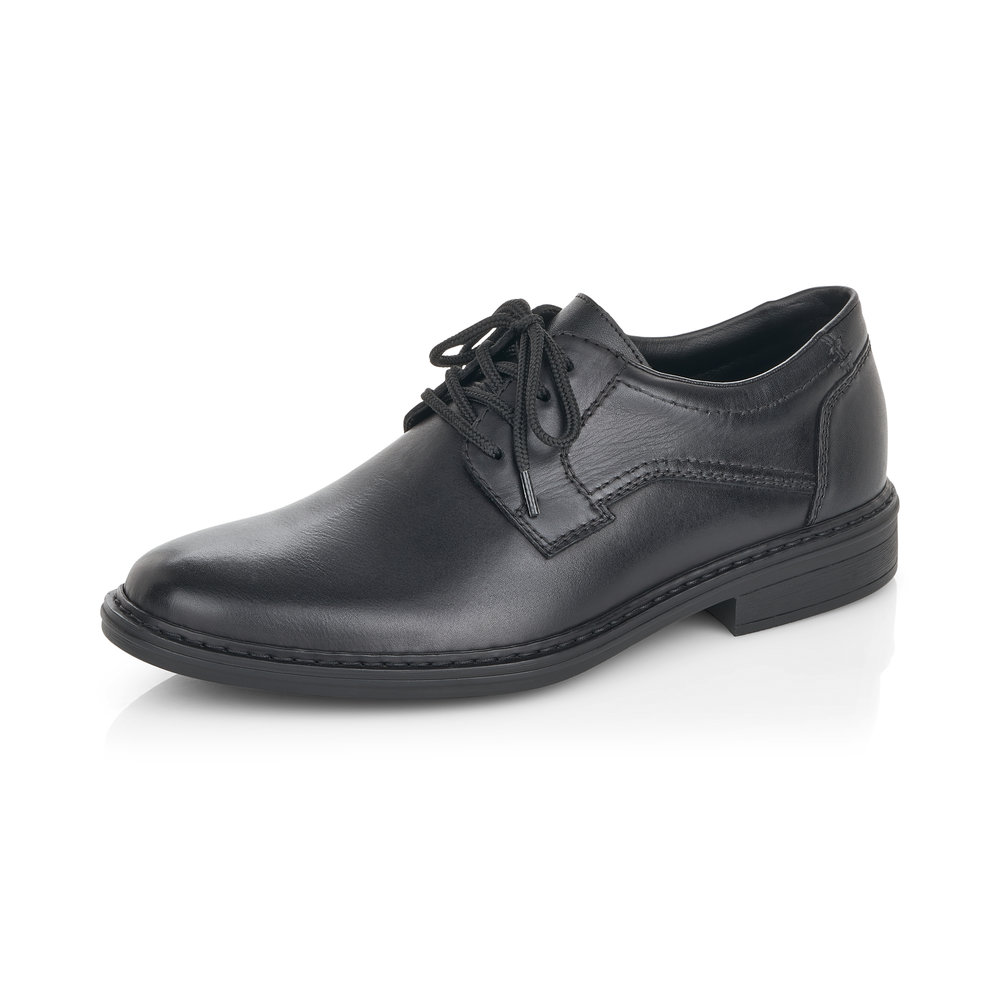 Rieker Mens 17627-001 Black lace shoe   Sizes - 41 to 46   Price - £67