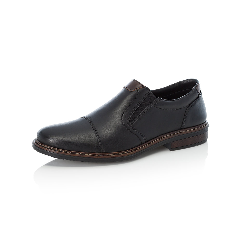 Rieker Mens 17659-00 Black slip-on shoe  Sizes - 42, 43, 44 and 45.   Price - £59