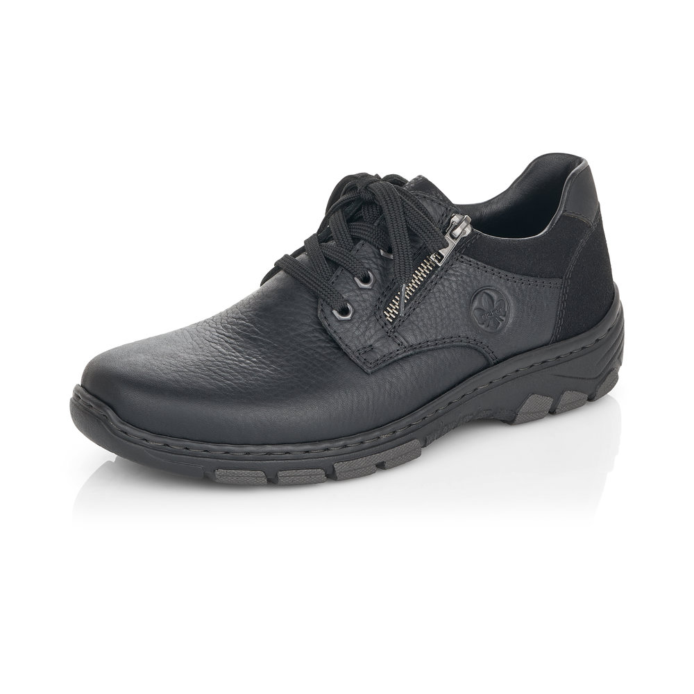 Rieker Mens 19921-001 Black zip/lace shoe  Sizes - 42 and 43 only.  Price - £72